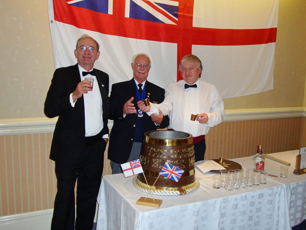 Chairman Richard Hancock with Shipmate Pusser Hill and Whisky Walker