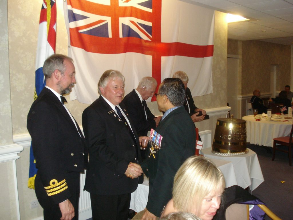Cdr Martin Gill Chairman Paul Walker and Major Laxmi Bantawa