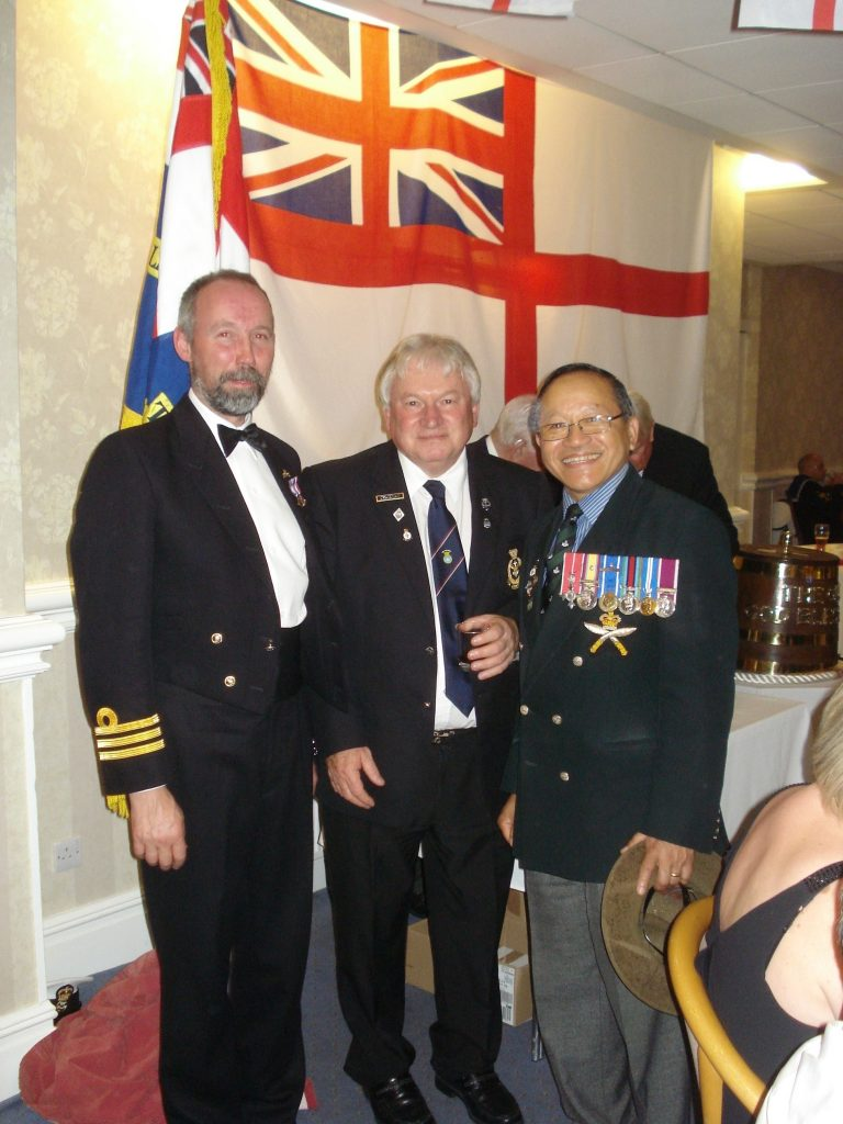 Cdr Martin Gill Paul Walker and Major Laxmi Bantawa