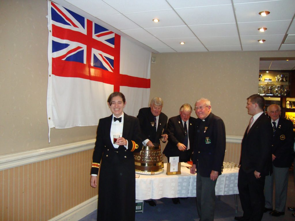 HMS Ceres Medical officer and our Branch Sin Bosun Traf 2012