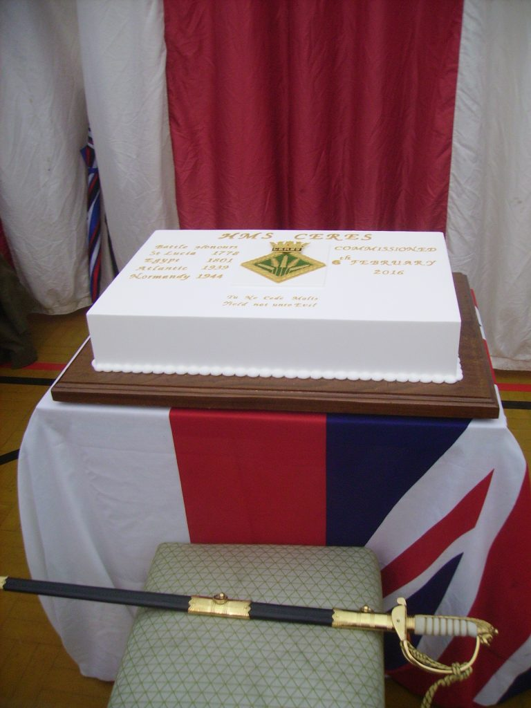 HMS Ceres Commissioning Cake