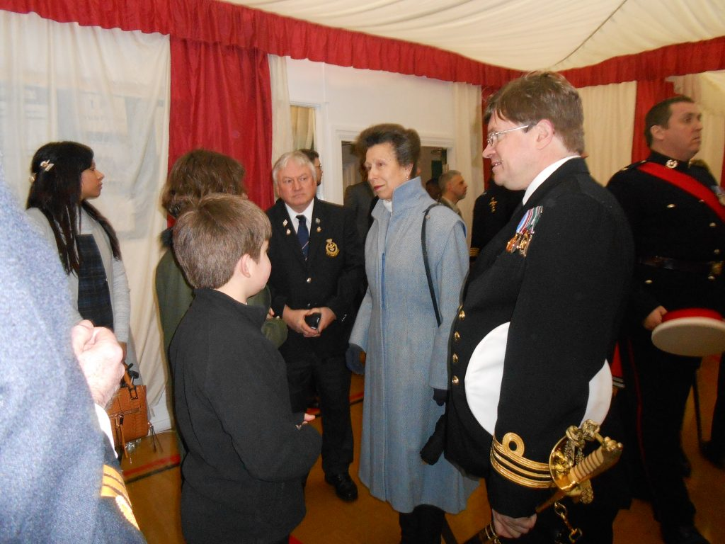 HRH Princess Anne with LT Cdr Noakes and Guests