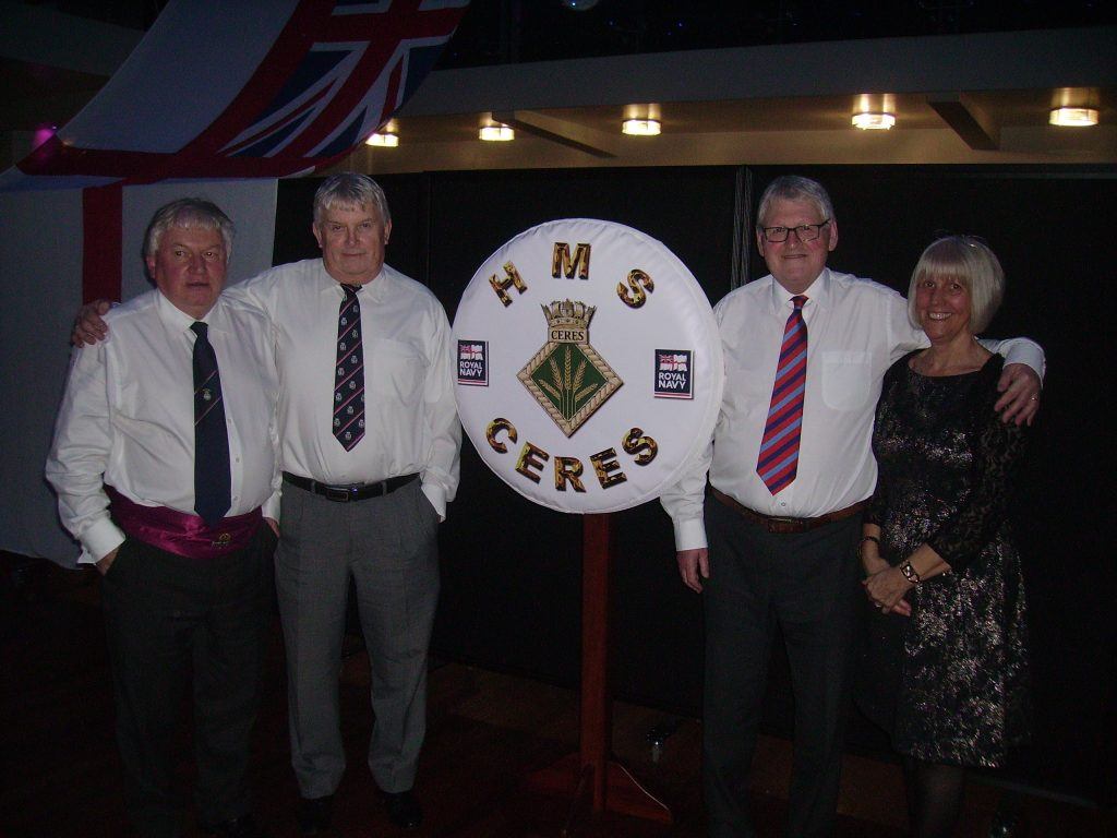 Shipmates at HMS Ceres Commissioning Dinner